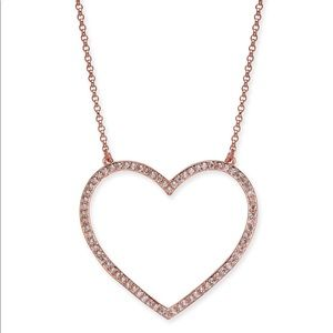 NWT Kate Spade Rose Gold cubic zirconia necklace